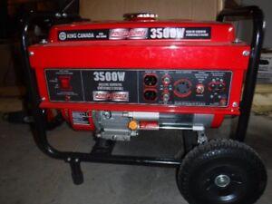 King Canada 3500W Portable Gasoline Generator