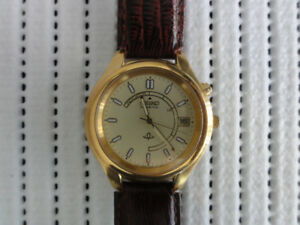 Gorgeous Seiko Kinetic Vintage Watch Brand New Strap Excellent
