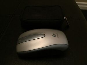 Logitech Wireless Mouse and Carrying Case