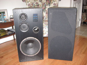 2 large Audio-Tech stereo speakers plus new door entry system Peterborough Peterborough Area image 1