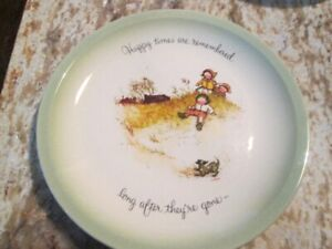 1972 Holly Hobbie Collector Plate Happy Times are Remembered...