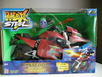 Max Steel Psycho Combat Cycle NEW in Box