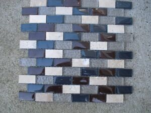 Glass and ceramic wall tiles