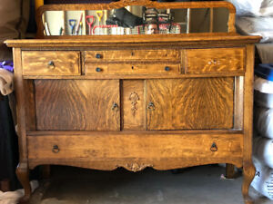 Asstd Furniture includes Antique Sideboard  2 tables/chairs,desk