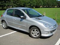 20060 06 REG Peugeot 206 1.4 Verve 5 DOOR LOW MILEAGE