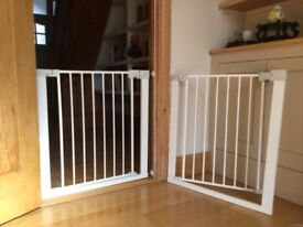 Two child safety gates