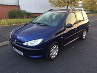 2004/53 PEUGEOT 206 SW S 2.0 HDI ESTATE BLUE ONLY 103.000 MILES