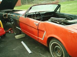 Pair of 1964 and 1965 Mustang convertibles