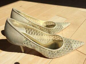 Gold shoes Nina