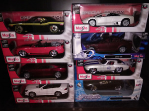 1/18 diecast cars in box for sale