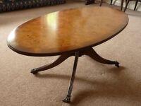 Lovely walnut oval table
