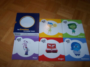 Disney - INSIDE OUT - MIXED EMOTIONS - 5 hardcovers - kids bks