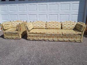 Sofa and armchair in an antique style