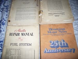 1951 Ford fuel system repair manual Carter Stromberg manuals