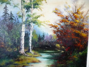"Original Oil Painting by E. Tyson ""Forest Study"" 1976 Stratford Kitchener Area image 2"