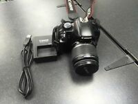 Canon EOS 450D / Rebel XSi 12.2 MP Digital SLR Camera - Black (Kit w/ EF-S IS 18) 8GB Memory Card