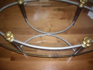 Nice, wood and metal table frame only in oval shape. $15 OR OBO