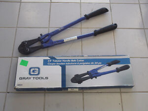 "GRAY TOOLS 24"" BOLT CUTTERS, 3/8"" CAPACITY - NEW IN BOXES"