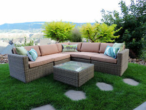 NEW!  Outdoor Wicker Dining and Patio Furniture with SUNBRELLA