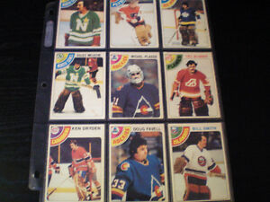 lot de cartes de hockey de 1958 a1978