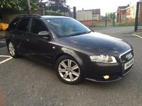 2007 Audi A4 2.0 Tdi 170 Bhp S-Line Avant(Privacy Glass Alloys Cruise Control) May Part Ex