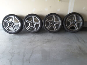 AMG winter tires on OEM rims
