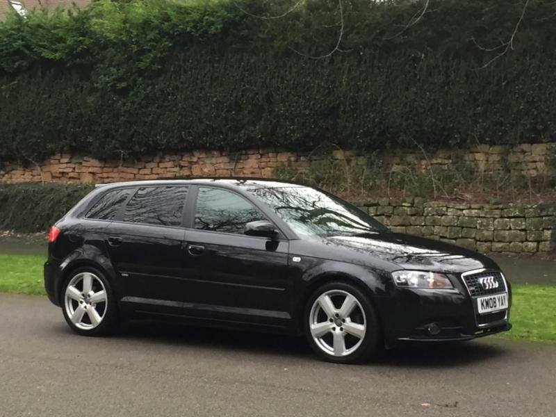 2008 08 reg audi a3 2 0 tdi sportback s line 5dr 140bhp full leather 18 39 39 rs6 in wigston. Black Bedroom Furniture Sets. Home Design Ideas