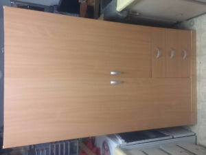 LARGE 2 DOOR 3 DRAW AND 3 SHELVES/WITH HANGER POLE