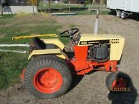 Case 446 Lawn Tractor with Tiller and Mower Deck