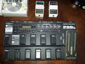 Boss delay & tuner, m-audio fastrack, and POD effect floor pedal Kitchener / Waterloo Kitchener Area image 1