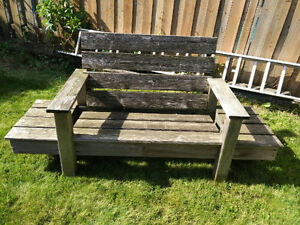 Weathered Cedar Benches