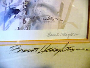 """Wildflower Lithograph, Signed by Brent Heighton """"Spring Lilies"""" Stratford Kitchener Area image 4"""