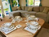 LUXURY STATIC CARAVAN FOR SALE CORNWALL NR NEWQUAY 13 FISHING LAKES