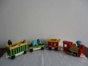 Train   Fisher-Price  Circus  Vintage  Orig.Box    1973
