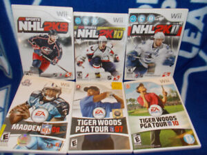 Wii Sports Games NHL NFL Tiger Woods