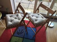 Folding pair dinning/bistro chairs from ikea