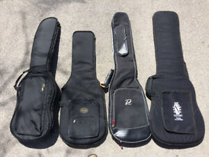 Electric guitar and bass gig bags