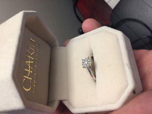 10k white gold/diamond ring size 6
