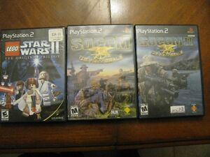 3 PS2 VIDEO GAMES