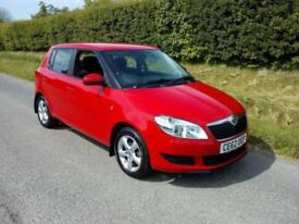 2012 SKODA FABIA SE 1.6TDI CR ( 75BHP ) MANUAL, RED, GREY CLOTH SEATS, AIRCON
