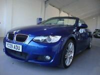BMW 320 2.0i M Sport Convertible, 2009, 69000 Miles FSH, Blue, Full Leather