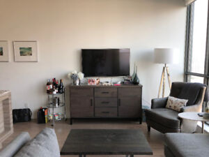 Short term stay at furnished 1 bed + den with parking for TIFF