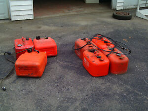 0MC and Merc. steel outboard gas tanks