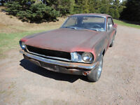 1965 Mustang V-8 Coupe restoration project - RUNS NICE.