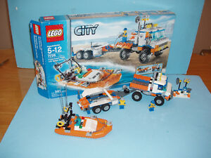 LEGO CITY 7726, le COAST GUARD TRUCK with SPEED BOAT