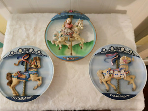 Collectible Limited Edition Musical Carousel Horse Plates