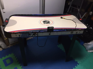 Air hockey table, Foose Ball Table & Melissa & Doug train table