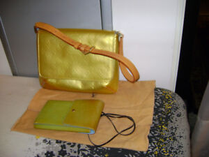 Louis Vuitton Vernis Yellow Bag-Wallet - Authentic - PRICES FIRM