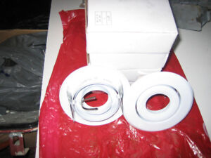 New white 4 inch pot light trims + L.E.D. GU10 bulbs