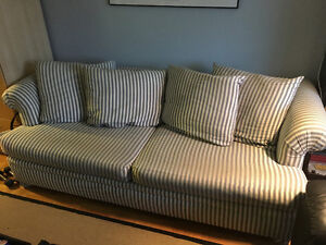 """Striped Couch for sale (89""""x38"""")"""